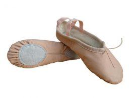 SPLIT SOLE LEATHER BALLET SLIPPERS