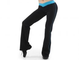 V FRONT TWO-TONE JAZZ PANTS