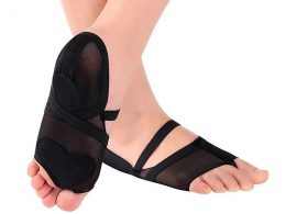 HALF-TOE STRETCH MESH LYRICAL DANCE PAWS